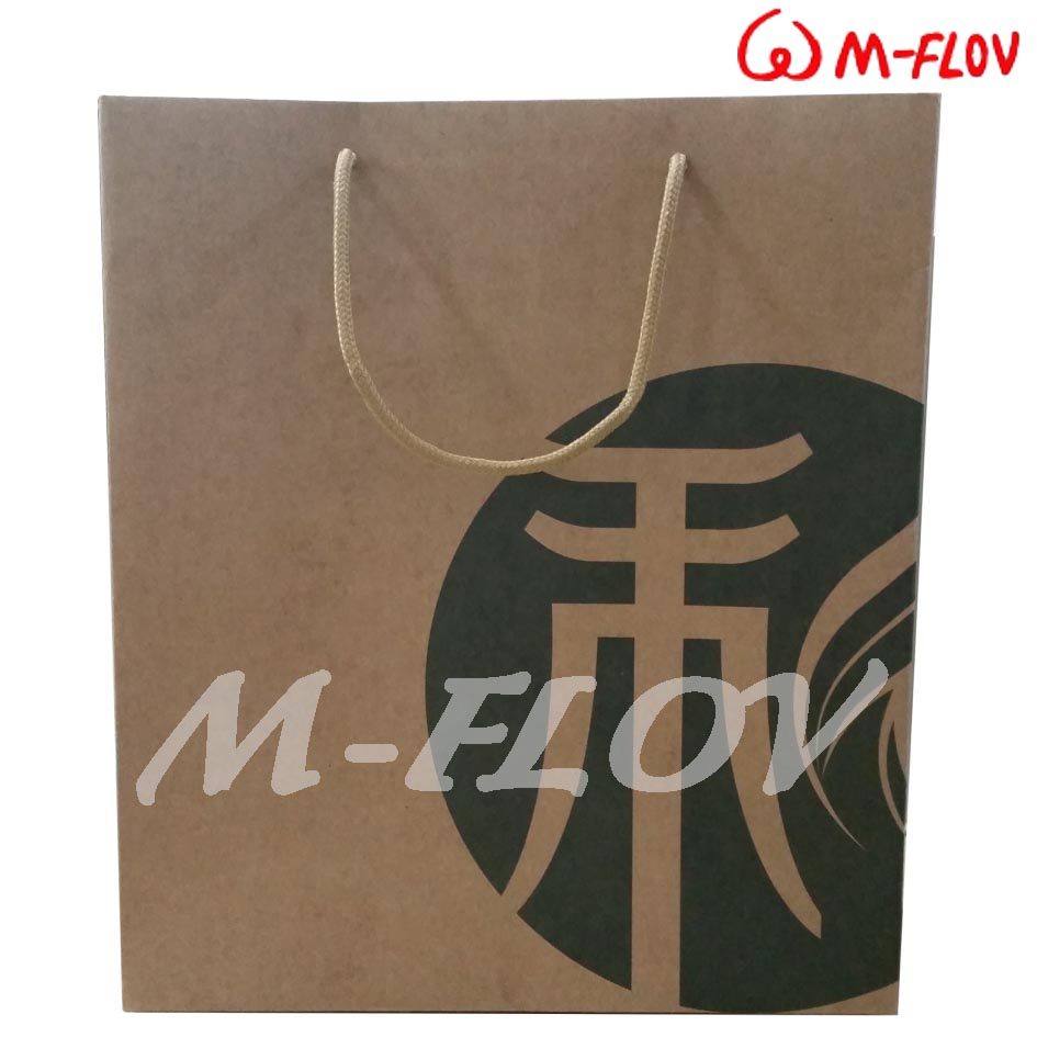 Kraft paper bag for promotion/ shopping with cotton strip handle