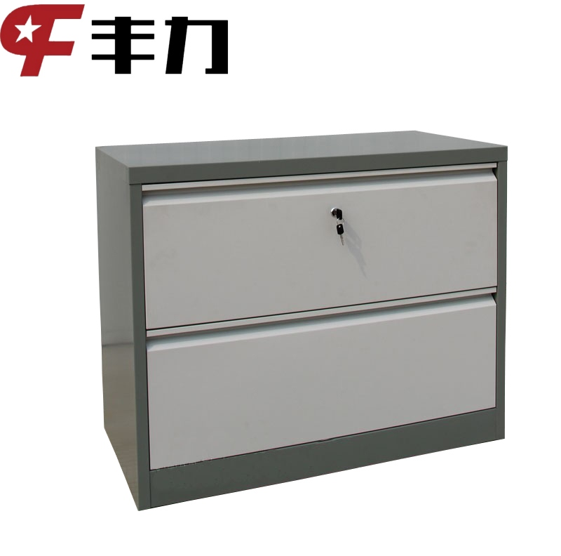 Metal furniture 2 drawer steel lateral filing cabinet