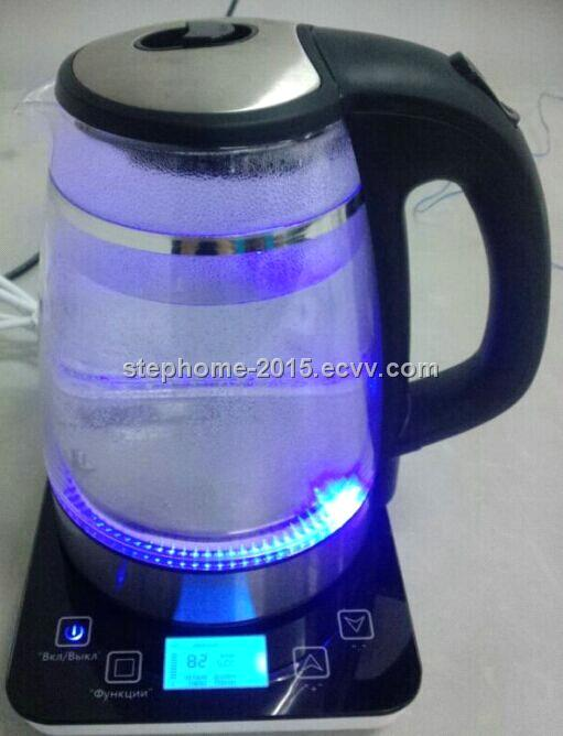 1.7L Glass kettle with LCD displayer(Model No.: M-GK1501T-LCD)