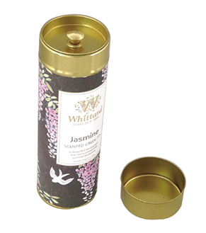 wholesale tea tin container with plug lid