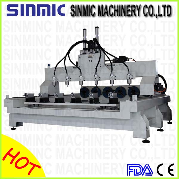 Multi-spindles 3d wood cnc router for sale  SC-1318-6