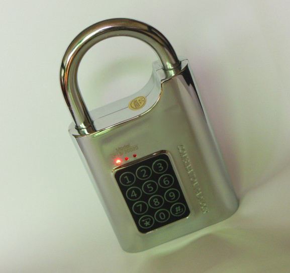 Electronic password padlock used in   liquor stores;  warehouse, factory and logistics