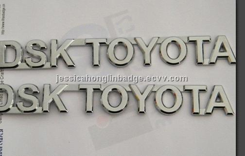 Custom Chrome car badge, silver car emblem, car sticker, Chrome car nameplate, Chrome ABS car letter