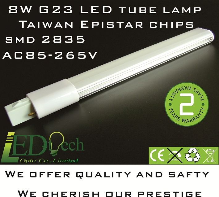 8W G23 LED tube lamp 35 pcs SMD 2835 G23 LED lamp G23 PL lamp G23 tube lamp