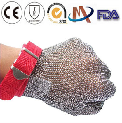 Stainless steel mesh cut-resistant gloves