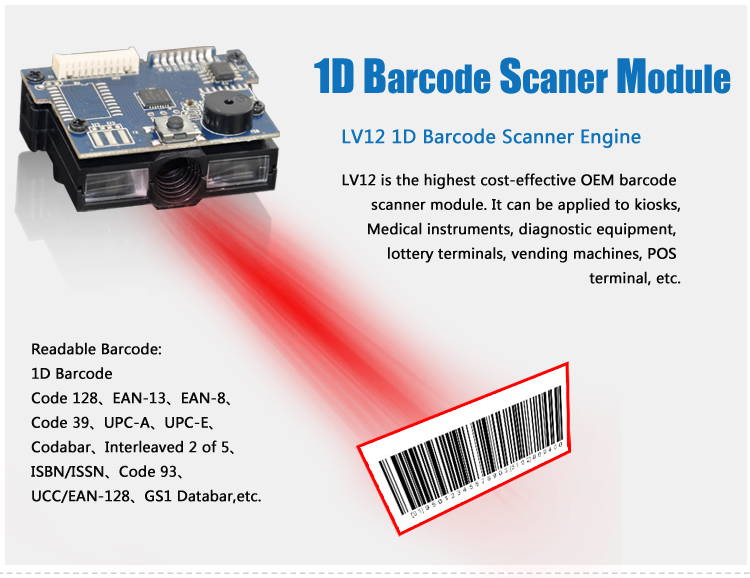 Hot New Innovative 32 bit Hand-held Barcode Scanner with Good Price