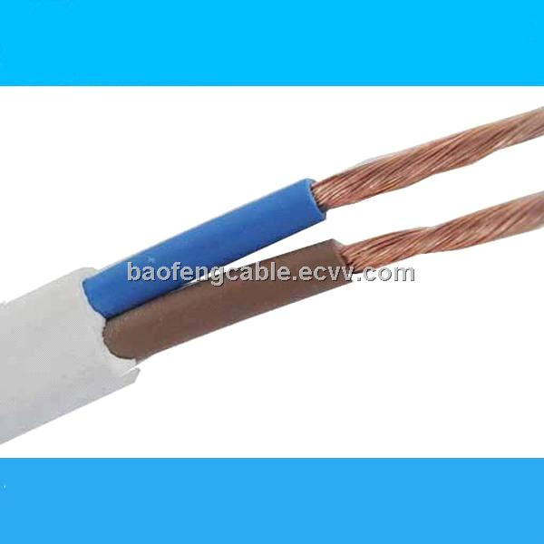 Copper Conductor PVC Insulated Flat Electrical Wire
