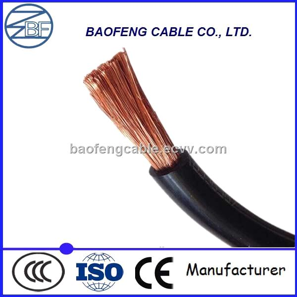 50mm2 70mm2 Single or Double Rubber Sheathed Flexible Copper Welding Cable