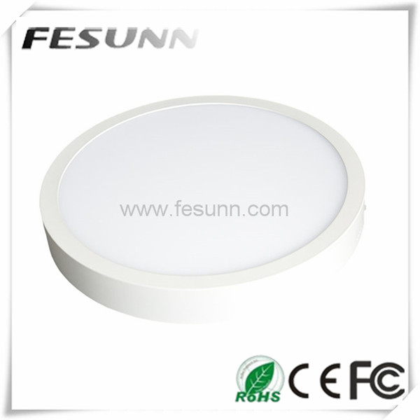 2015 best selling white body 12W LED Round panel light