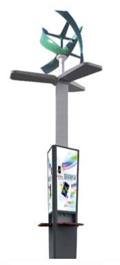 Mobile Phone Charging Station Solar, Wind Charging Kiosk, Outdoor Mini Mobile Phone Charger