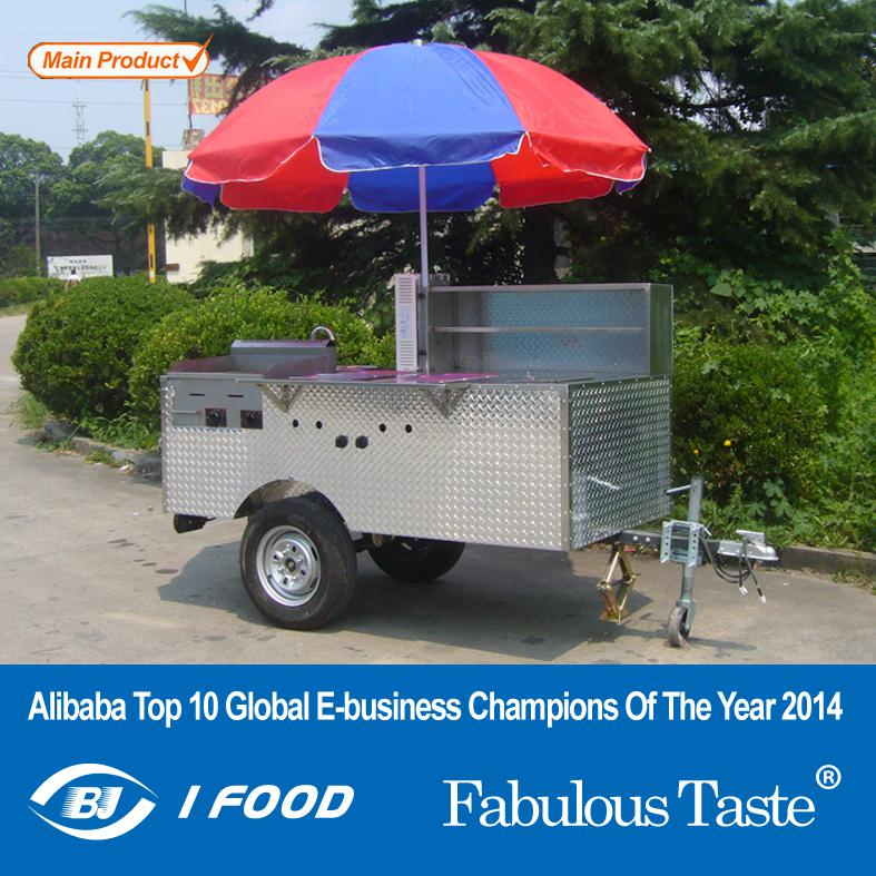 HD-12B food kiosk mobile kitchen food van street food cars