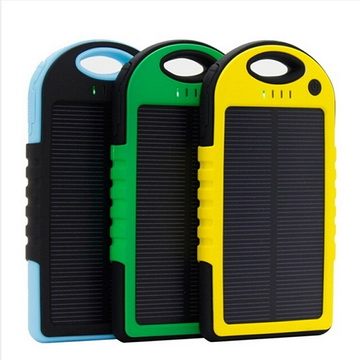 Portable mobile phone solar charger for 2015 new products5000mah solar charger
