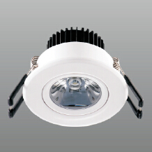 Round Recessed  Panel LED ceiling light Pendant Lamp fixture lighting 220V 3W Kitchen light