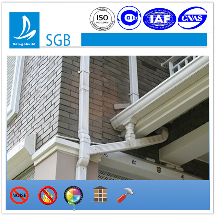 2015 hot sale PVC rain gutter and downspout for PVC drainage system