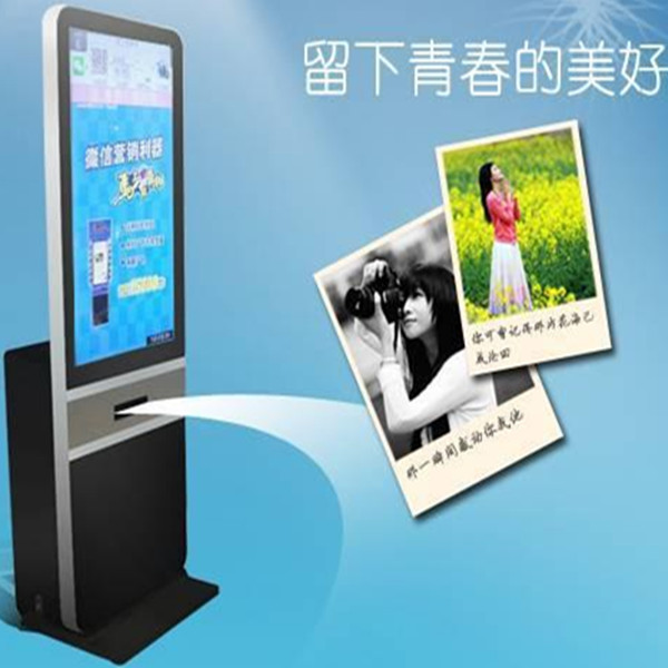 42 inch Advertising Player Wechat Photo Printer With Coins Selector