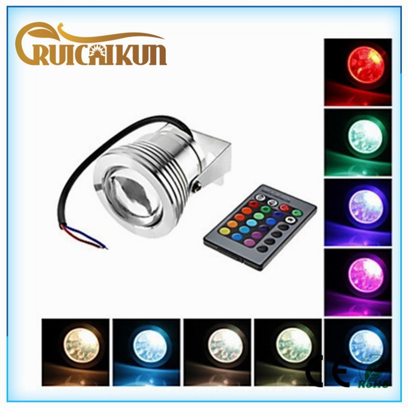 led light fishing lure 10W rgb led fish attracting fishing underwater pool light lamps
