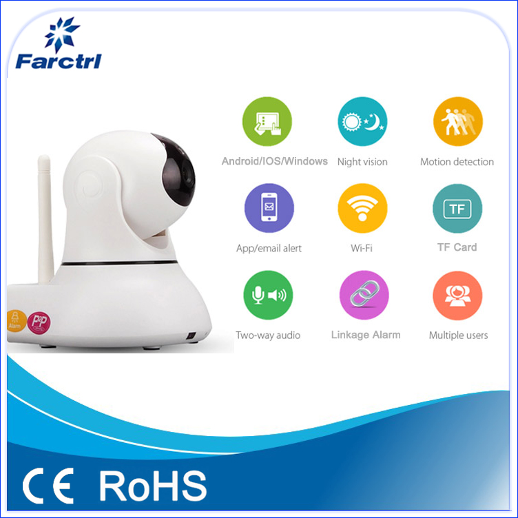 High Definition Indoor HD P2P PT IP Wireless IP Camera With Wifi