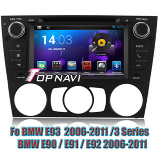 Android 4.4 Quad Core Car DVD Player For BMW E90 2006-2011 Manual GPS Navigation