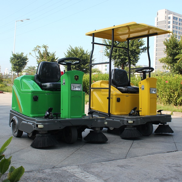 lead battery powered electric floor sweeping vehicle