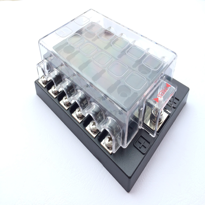 Universal12 way cars, ships, trucks Circuit Automotive Middle-sized Blade Fuse Box Block Holder