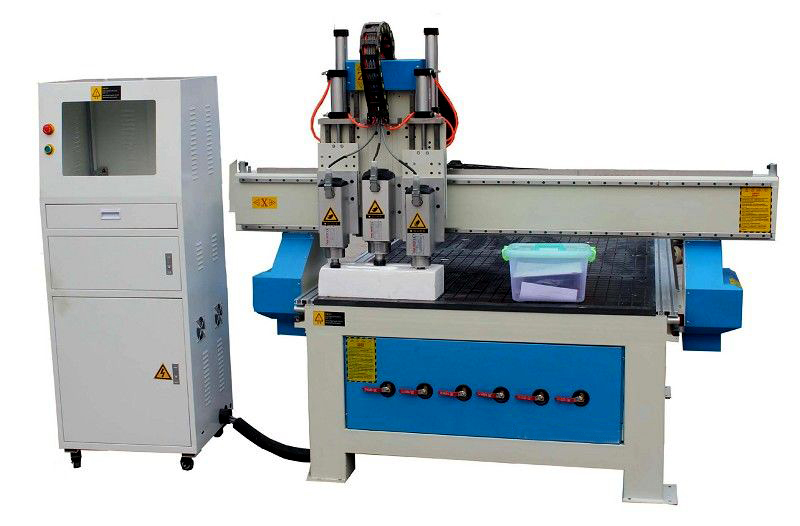 1300*2500mm cnc woodworking router with penumatic tool changer three heads