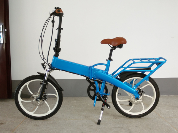 20inch folding ebike blue color ebike