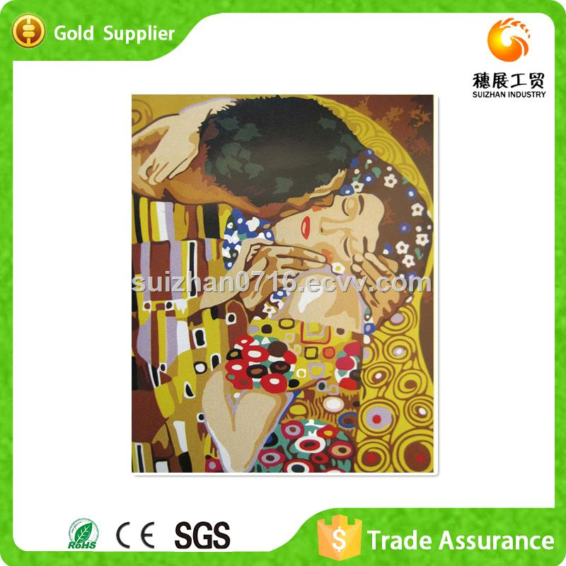 Full Stock Rhinestone Embroidery Abstract Oil Painting Couple Nude Canvas Oil Painting