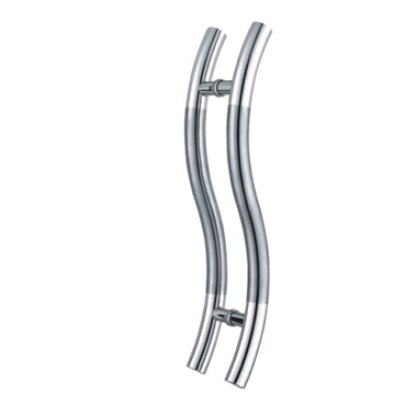 S type glass door pull handle