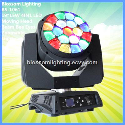 19*15W 4 IN1 LED Moving Head Beam Bee Eyes Zoomable Light (BS-1061)
