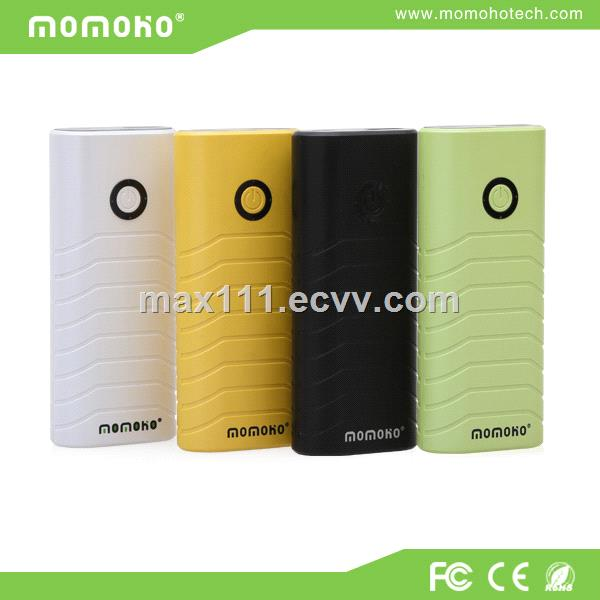 Smart portable mobile power bank 5200mAh with 4 power indicators