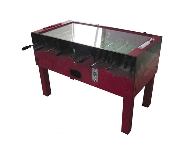 Merveilleux Glass Top Foosball Table/Coin Operated Soccer Table