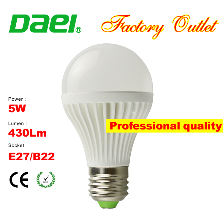 ip65 A50-5W led bulbs 420lm E27 B22