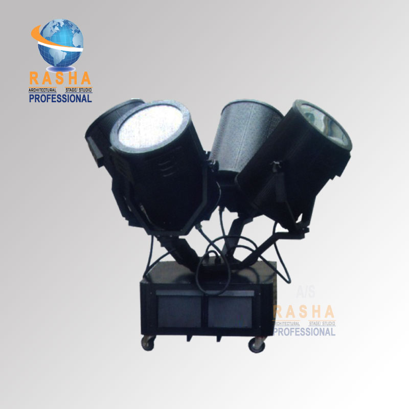4kw Outdoor Sky Rose Light Four Heads Searchlight For Stage Lighting