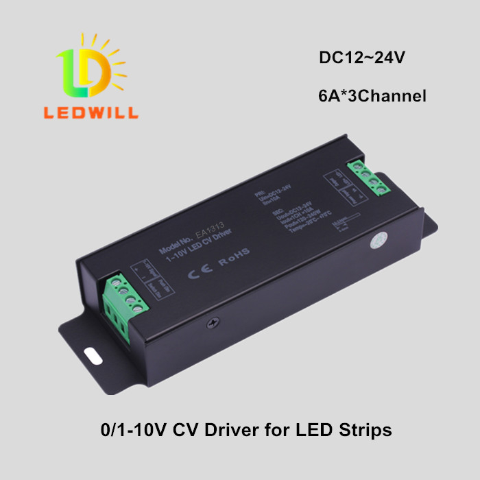 0/1-10V Dimmable Driver for LED strips 6A*3Channel LED dimmers