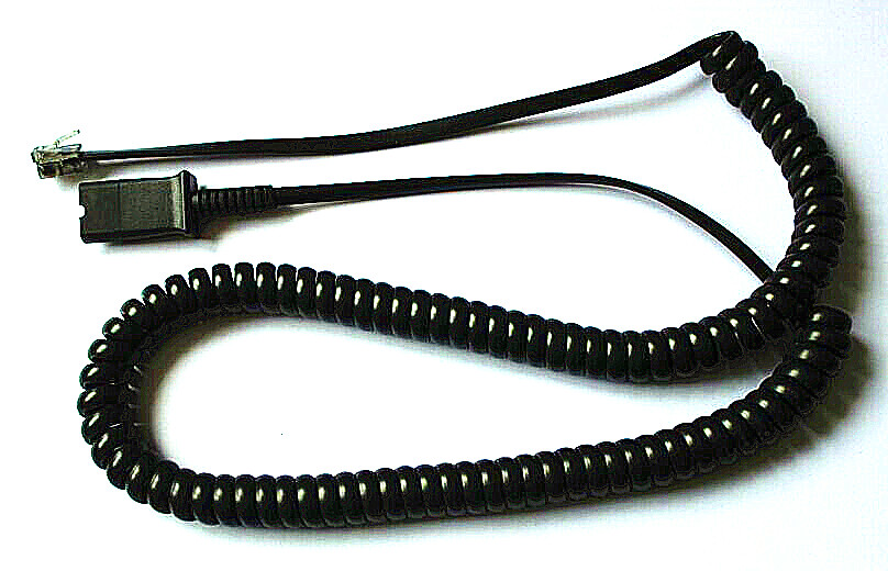 Coiled telephone cord, available in various colors and lengths
