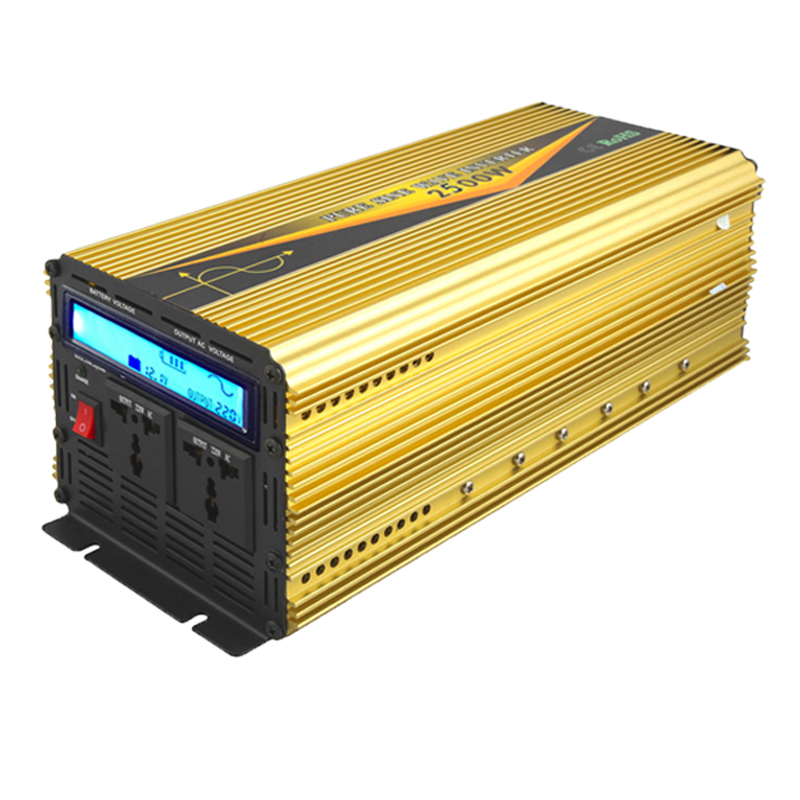 2500 watt pure sine wave inverter with LCD display
