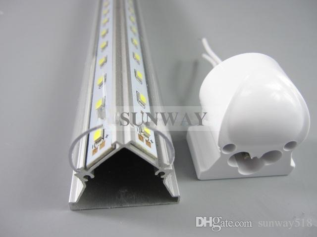 High brightness 4ft/5ft/6ft/8ft V shaped T8 LED tube cooler door light