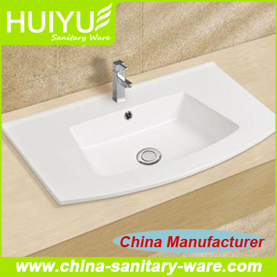 New Coming One Meter Cabinet Thin Edge Wash Basin Sink