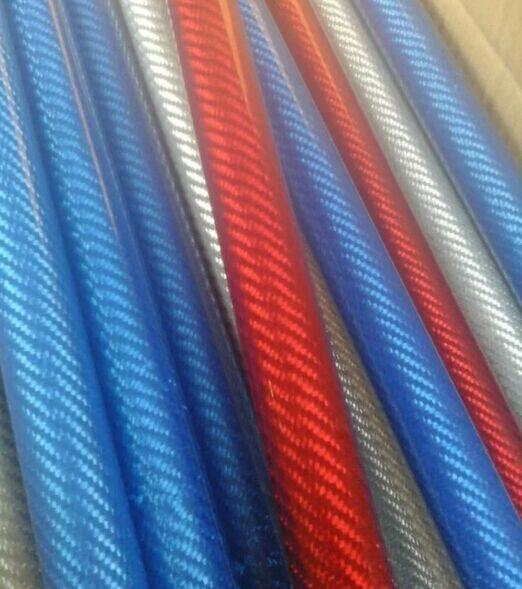 Colorful Fiberglass tube ROD FRP glass fiber pole tube