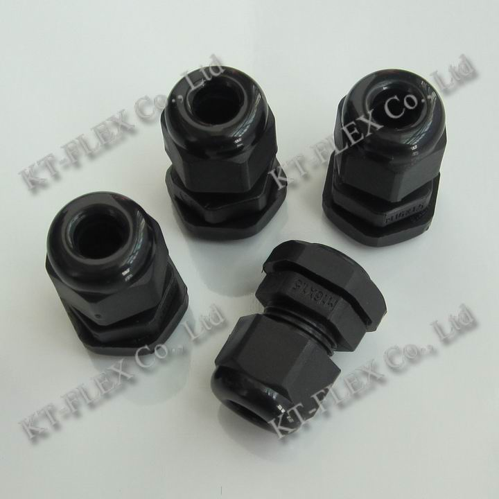 black nylon liquid tight cable gland