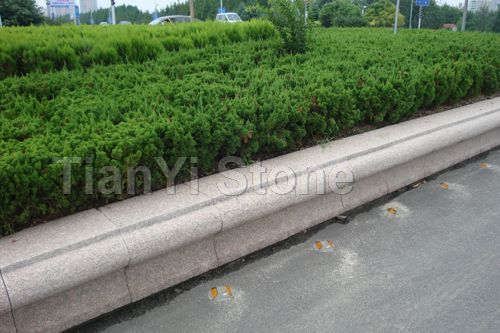 Wulian red S-shape curbstone