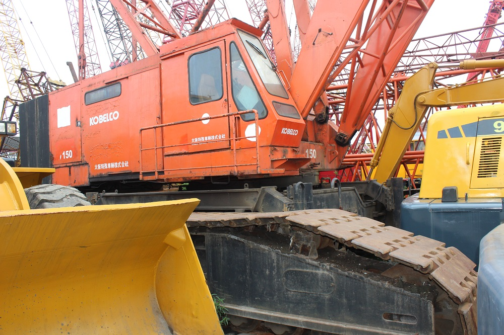 USED ORIGINAL 150 TON KOBELCO CRAWLER CRANE FOR SALE
