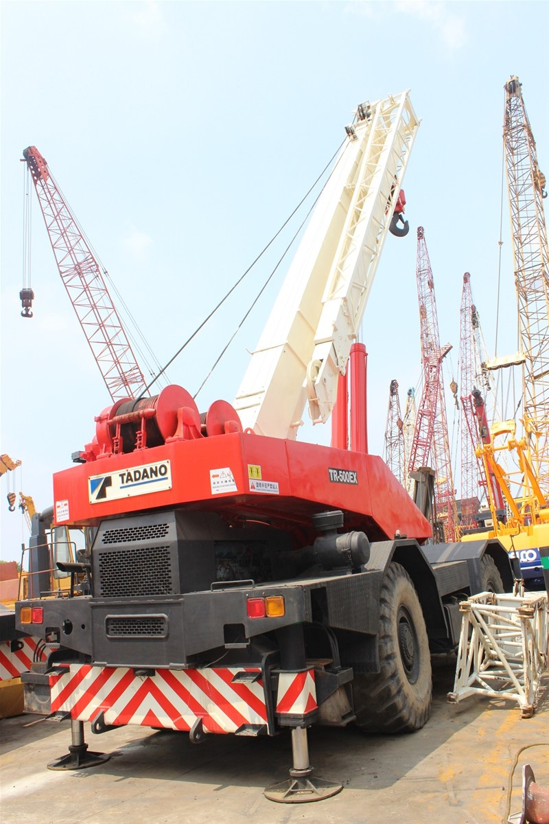 USED ORIGINAL 50 TON TADANO TR500EX ROUGH TERRAIN MOBILE CRANE FOR SALE