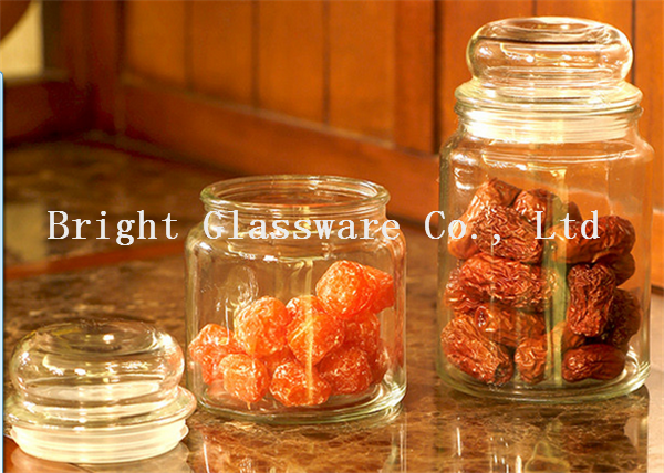 glass candy  jar, cookie jar, candle jar