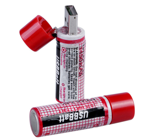 Promotion USB port AA rechargeable battery 1.2V USB batteries