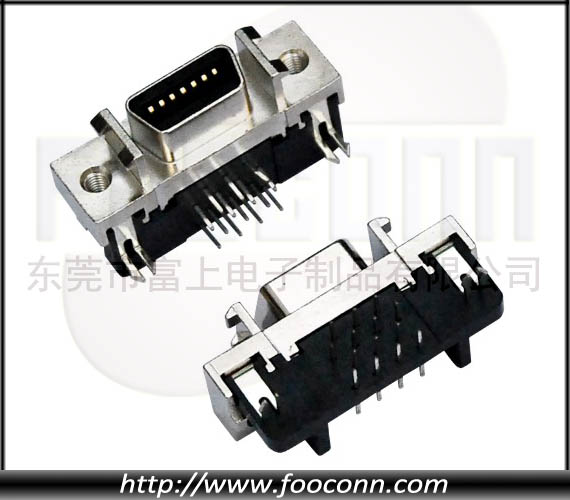 SCSI Connector 14Pin Right Angle Female CN-Type