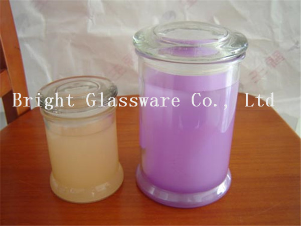 custom glass candle jar, candle container for sale