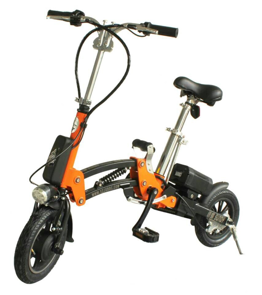 Just one second foldable electric bike
