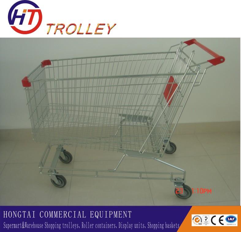 Australian Customized Supermarket Metal Shopping Trolly On Wheels