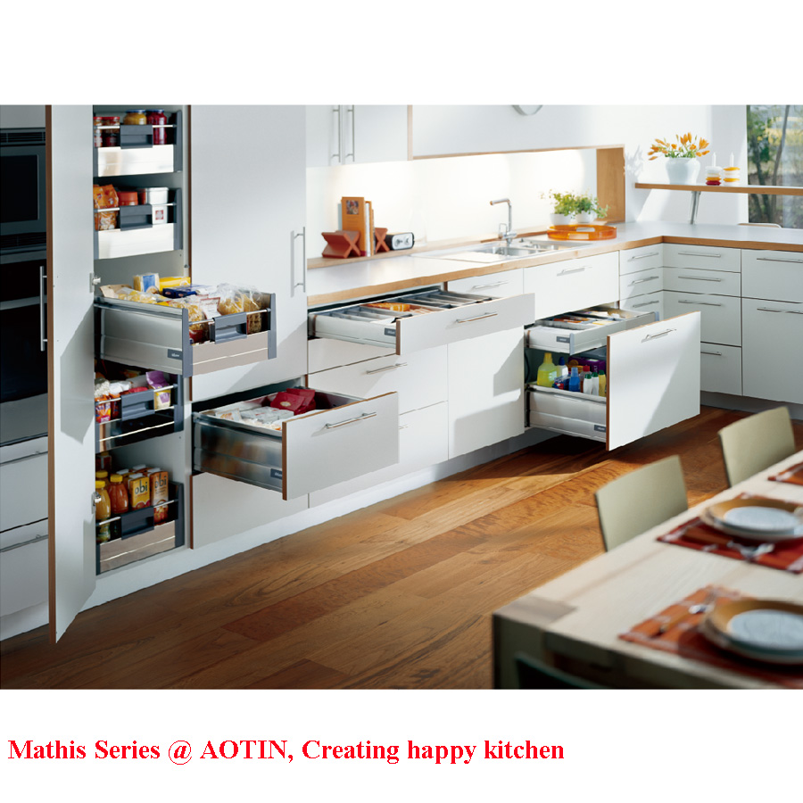 AOTIN Modern PET Kitchen Cabinet Manufacturer